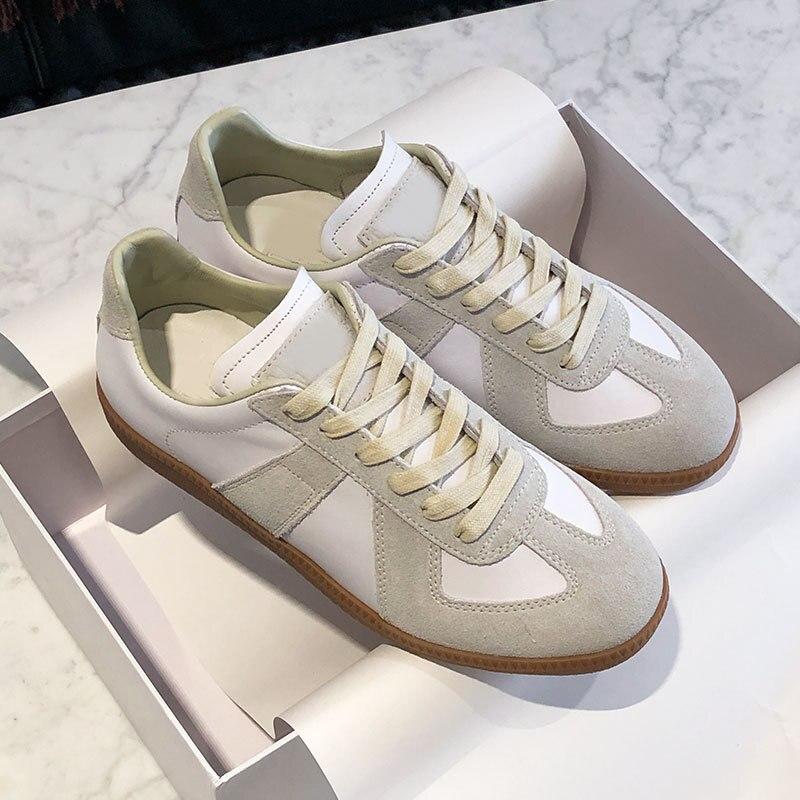 ¡Novedad! Cordones de zapatos de moda yominior para primavera y verano, zapatos de mujer Vintage transpirables, zapatos planos informales alemanes, mocasines para mujer, zapatillas deportivas