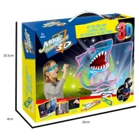 new childrens 3d color drawing board graffiti board portable design safety toys led wipes childrens gifts%ef%bc%8csize2521cm