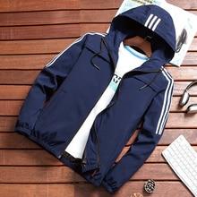 New Mens Bomber Jacket Casual Hooded Spring Autumn Windbreaker Hip Hop Harajuku Streetwear Male Zipp