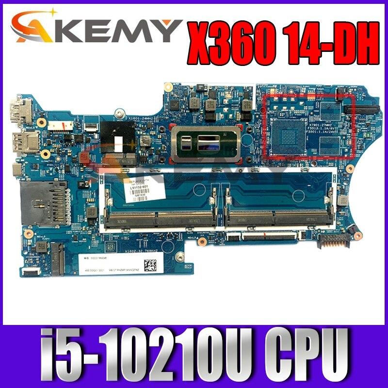 اللوحة لابتوب HP جناح X360 للتحويل 14-DH L67767-601 L67767-501 L67767-001 i5-10210U 18742-1 448.0GG03.0011