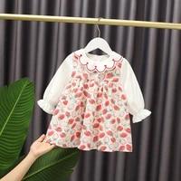 2021 spring girls dresses children clothes baby girls straberry dress kids prince dress baby girls dress girls outwear m35
