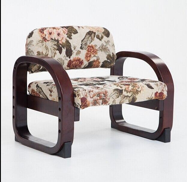 كرسي خشبي منخفض على الطريقة اليابانية للأطفال ، مقعد دراسة خشبي صغير قابل لضبط الارتفاع
