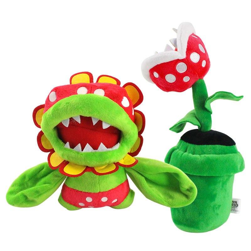 Juguete de peluche de 17cm Super Mario Bros Petey piraña Dino piraña regalo de muñeco de peluche suave para niños