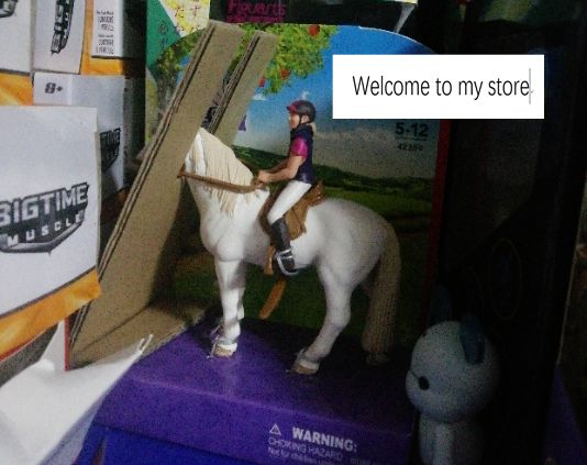 Pvc figura jinete + juguete modelo de caballo