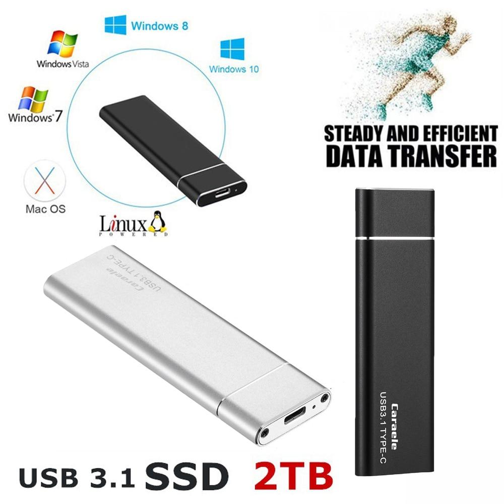 الأصلي 2 تيرا بايت 1 تيرا بايت 500 جرام الخارجية الحالة الصلبة القرص الصلب خارجي SSD USB 3.0 TYPE-C لأجهزة الكمبيوتر المحمولة سطح المكتب