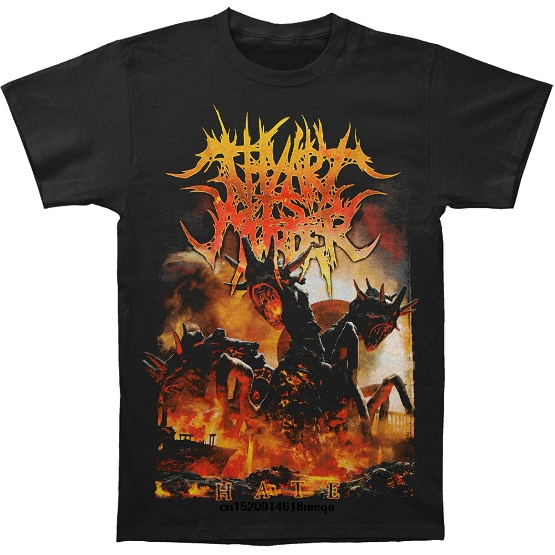 Camisetas divertidas, camiseta de manga corta negra de The Art Is Murder para hombres
