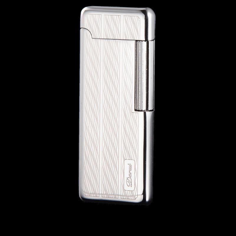 Encendedor portátil ultradelgado con rueda de molienda galvanizada, Encendedor de cigarros, antorcha,...