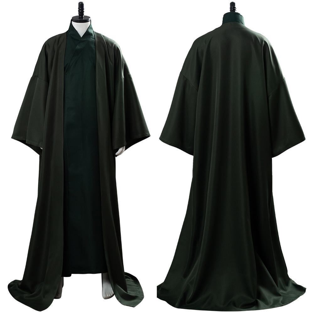 Disfraz de Cosplay de la película Lord Voldemort, capa, disfraz, vestido largo, disfraces de Halloween
