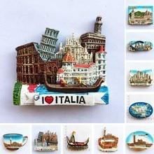 Italie résine aimants pour réfrigérateur tourisme Souvenir toscane Firenze San Gimignano sienne venise réfrigérateur autocollants Collection cadeaux