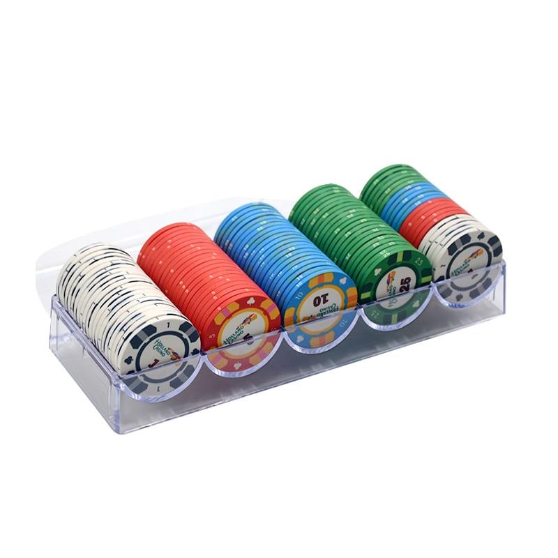 100Pcs/Lot Ceramic Texas Poker Chips Sets Professional Casino Poker Chip Poker Chips Set Customizable Poker Coin Dropshipping