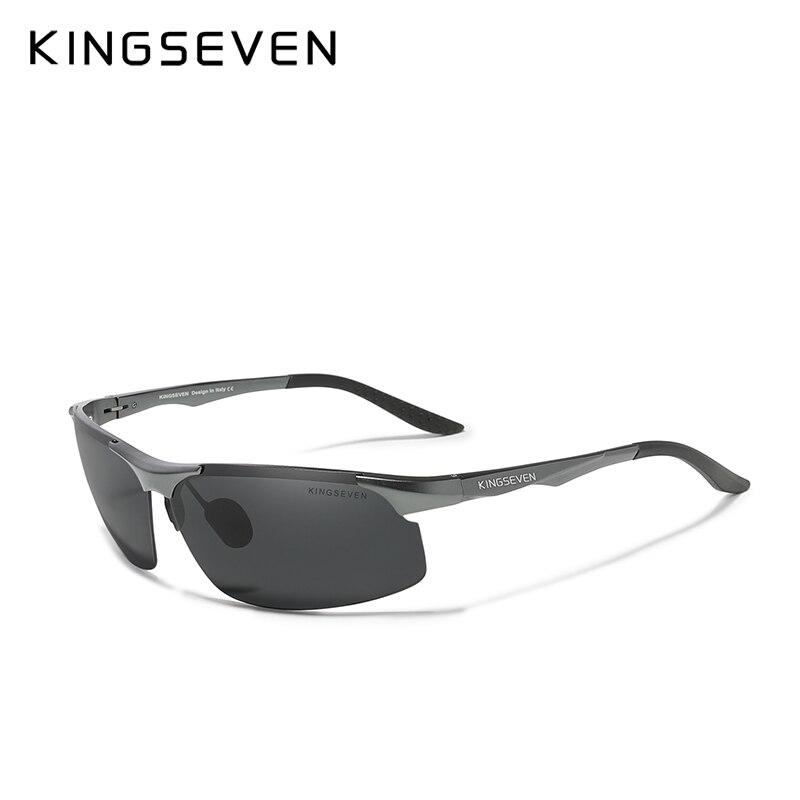Genuine KINGSEVEN Polarized Men Aluminum Sunglasses Driving Mirror Lens Male Sun Glasses Aviation Women For Men Eyewear 9126