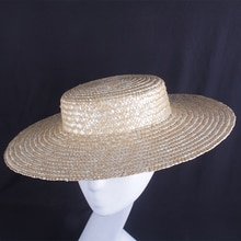 Wholesale 4pc/Lot Women Elegant Ladies Large Brim 10CM Fedora Cap Ladies Summer SPring Straw Sun Hat Vocation Party DIY Hat Base