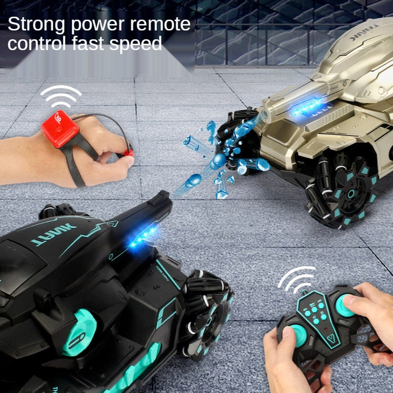 RC Car Large 4WD Tank Water Bomb Shooting Competitive Rc Toy Big Tank Remote Control Car Multifunctional Off-road Kids Toy Gift enlarge