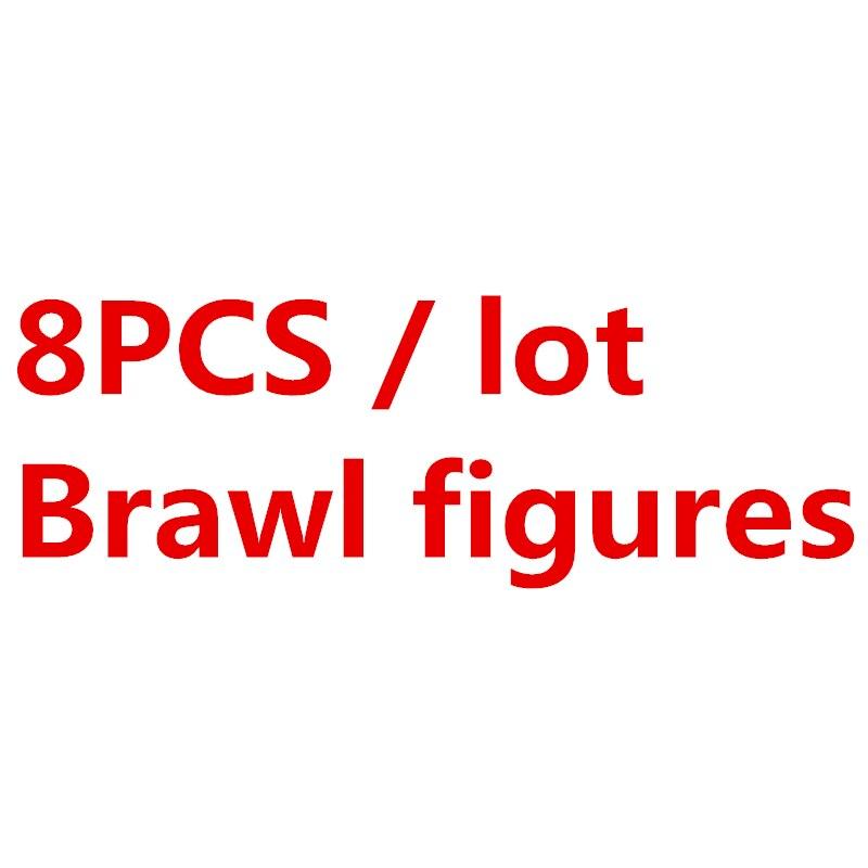 8 шт./компл. драка игра мультфильм Colt фигурки боевой герой кукла аниме модель строительные блоки кирпичи классические детские Звездные игрушки Совместимые