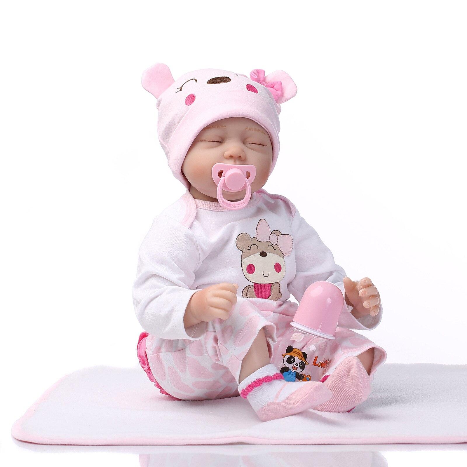 تولد من جديد دمية طفل محاكاة طفل لطيف دمية عيون مغلقة دمية المولود الجديد منتجات الأطفال دمى طفل واقعية تولد من جديد الأطفال ألعاب الأطفال