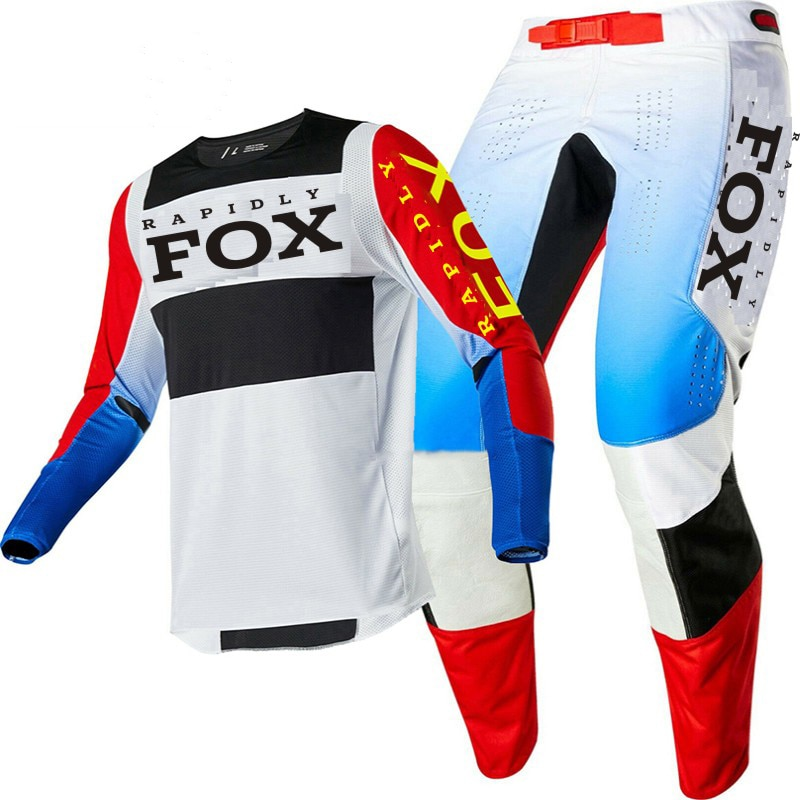 2020 terno de corrida da motocicleta rapidamente raposa 360 motocross jérsei e calças mx conjunto engrenagem moto roupas mtb enduro motocross