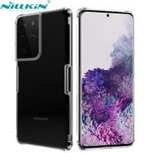 NILLKIN étui pour Samsung Galaxy S21 + S21 Plus couverture mince clair Silicone souple couverture arrière antichoc Anti-coup téléphone sac étui