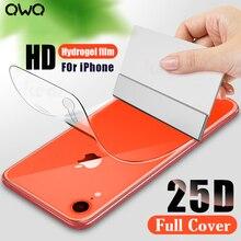25D полное покрытие изогнутая Гидрогелевая пленка для iPhone 11 XR X XS MAX Защита экрана для iPhone 6 6s 7 8 Plus SE 2020 пленка не стекло