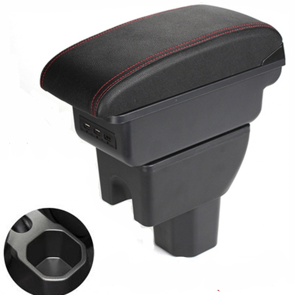 لسوزوكي Ignis مسند الذراع صندوق تخزين مركزي صندوق المحتوى سيارة التصميم ملحقات للتزيين مع حامل الكأس USB