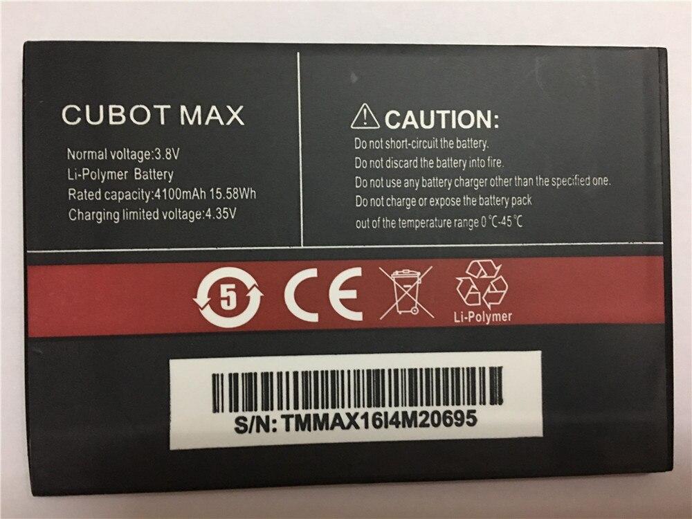 100% nowa bateria CUBOT MAX 4100mAh bateria zapasowa zapasowa do telefonu komórkowego CUBOT MAX w magazynie