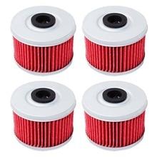 Filtre à huile pour moto Honda   1/2/4 pièces, CB400 VTEC CB 400 1998 CBF250 CBF 250 2004-2006 ATC250SX ATC350X 85-87 SXS500 15-16