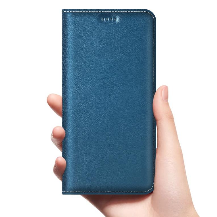 Babylon Funda de cuero genuino con tapa para BlackBerry Key 2 DTEK 50 70 Motion Z10 Z3 Leap negocios Fundas de móvil