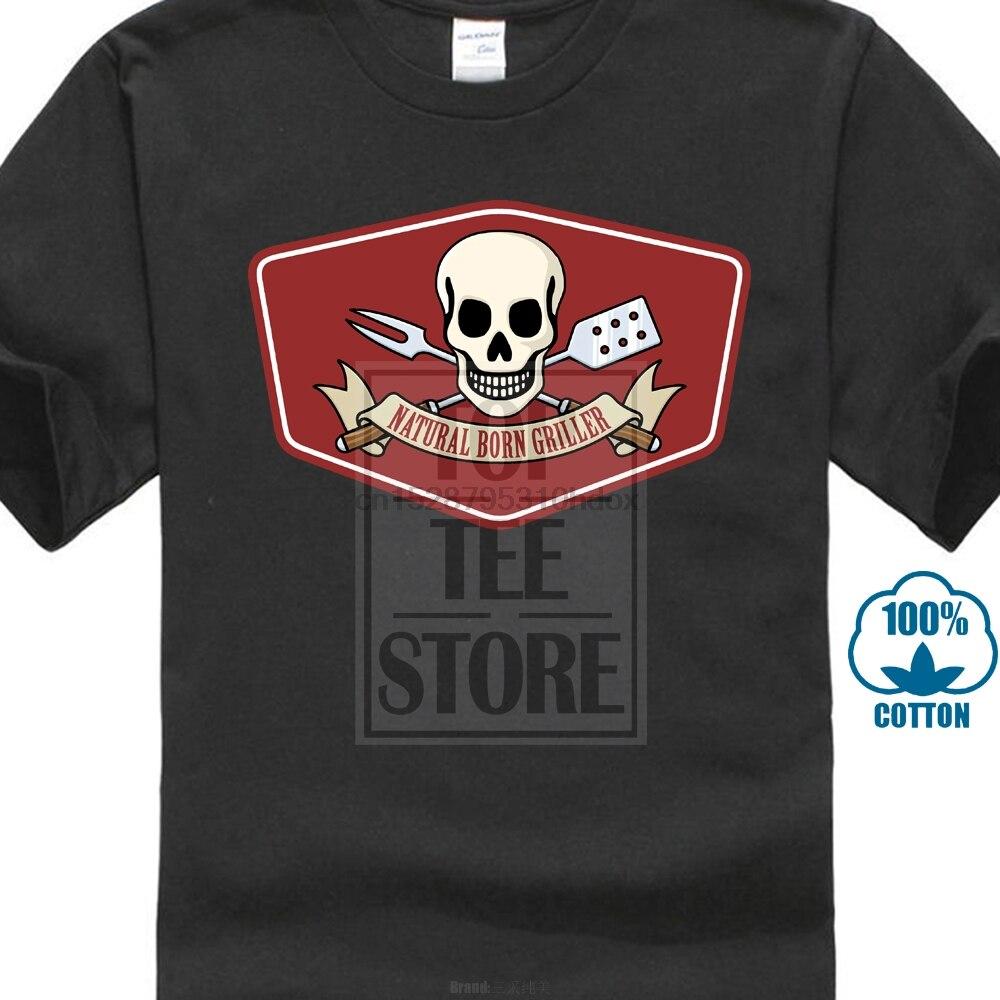 Camiseta Natural Born Grillers asar barbacoa carnicero Chef Weber parrilla Smoker camiseta 2018 más nueva moda camisetas de verano