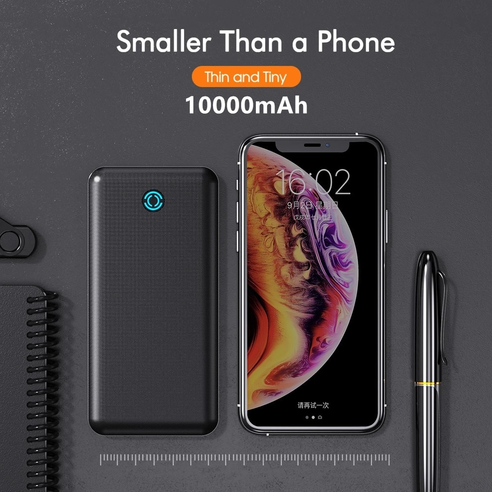 10000mAh External Battery Power Phone Battery Quick Charger Portable Power Bank For iPhone/Samsung/Huawei Type C Power