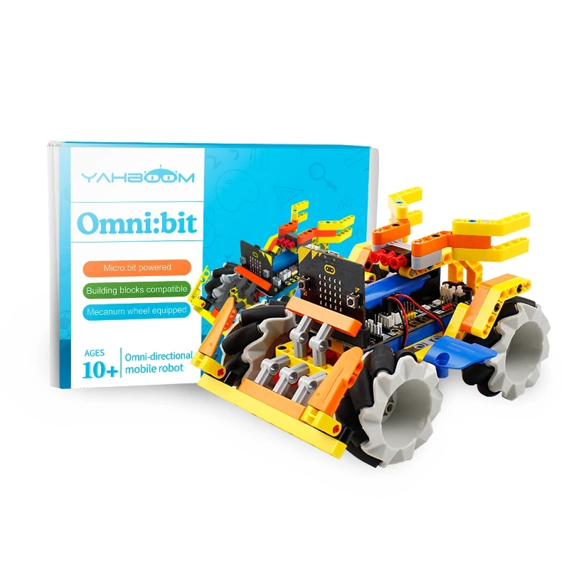 AiSpark programmable Omni:bit smart robot car with Mecanum Wheel a group of 4 60mm 14159 mecanum wheel omni wheel robot 60 mm aluminum wheels