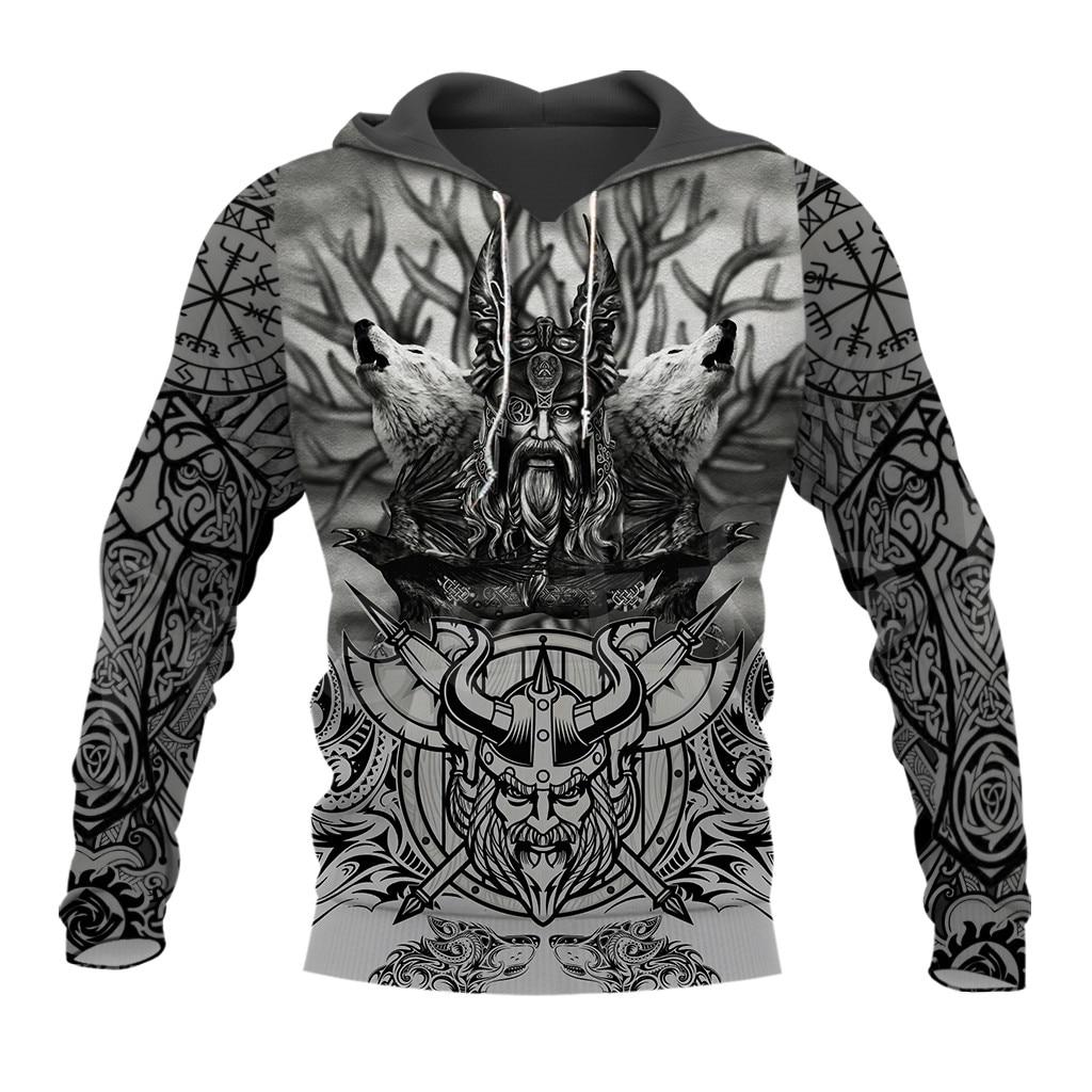 Tesselfel Unisex vikingos símbolo tatuaje vikingo Warriors nueva moda Harajuku MenWomen 3DPrint zipper/sudaderas/Hoodies/chaqueta s12