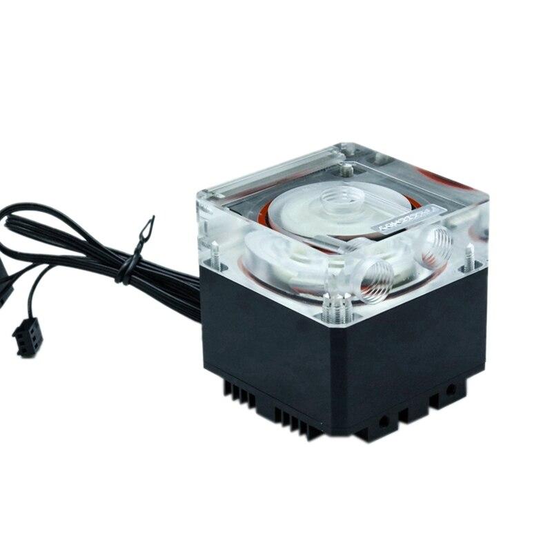 FREEZEMOD PU-FS4M ordinateur de refroidissement refroidisseur deau pompe muet PWM flux lumineux 800L/H