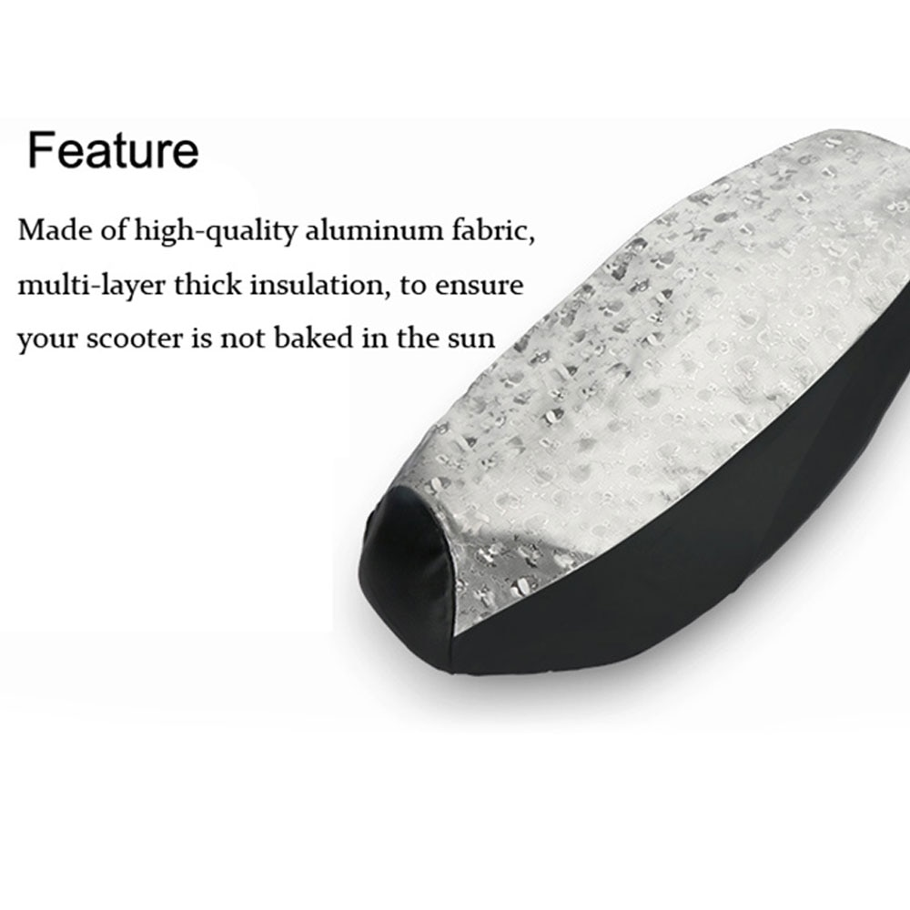 Durable PVC PU Leather Seat Cover Seat Cushion Heatproof Motorcycle Cover L Silver Motorcycle Seat Cover