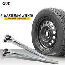 "QUK Socket Wrench Breaker Bar Drive Torque Ratchet 1/4"" 3/8"" 1/2"" F Rod Universal Force Lever Steering Handle Repair Hand Tools"