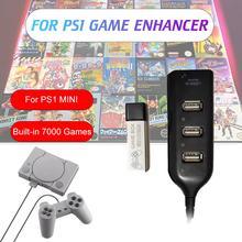 Rehausseur de jeu Plug jeux craquelé Pack pour accessoires Playstation intégré 7000 jeux pour vrai bleu Mini PS1