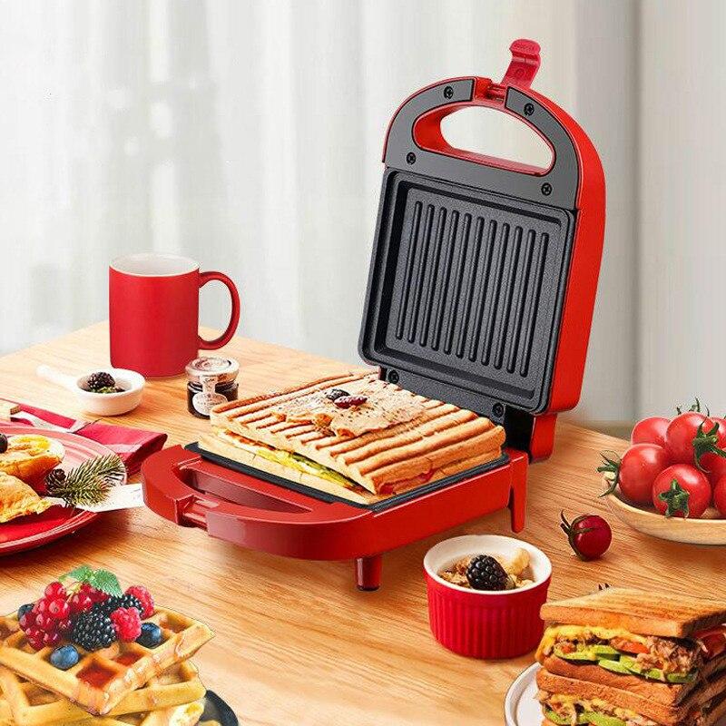 Sanduicheira Elétrica 650W 200V Máquina de Café Da Manhã Ovo Bolo Forno Toster Sandwichera Elétrica Multifuncional