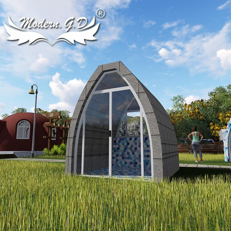 خيمة تثبيت مخصصة في الهواء الطلق ، منزل على شكل قبة فولاذية فاخرة