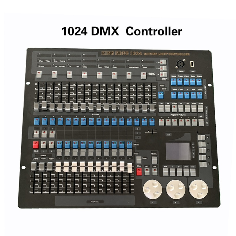 Controlador de consola DMX 1024 para iluminación de escenario DMX 512, equipo controlador de DJ estándar internacional