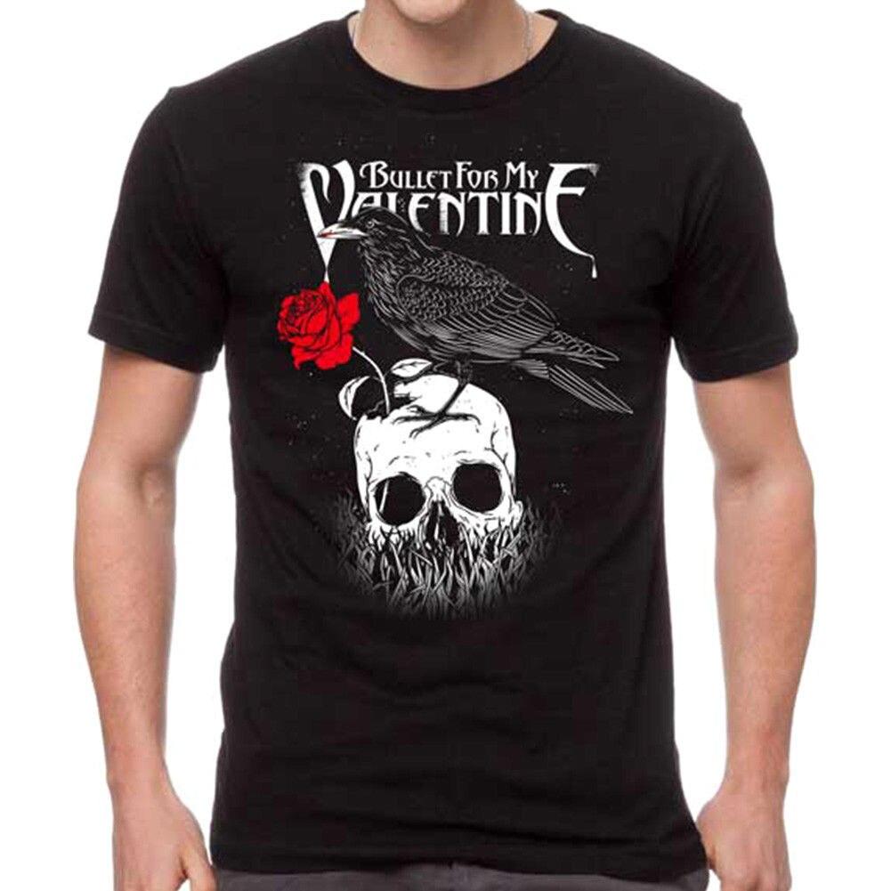 Auténtica Bala para mi San Valentín camiseta de Raven negro S-3XL nuevo cuello T camisas