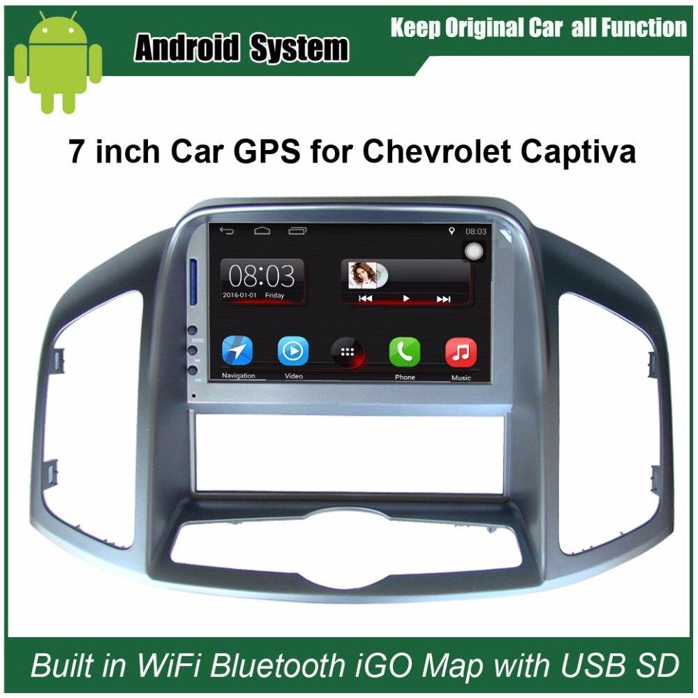 Reproductor de Radio para coche Original actualizado adecuado para Chevrolet Captiva 2011-2012 reproductor de vídeo para coche integrado en WiFi GPS navegación Bluetooth