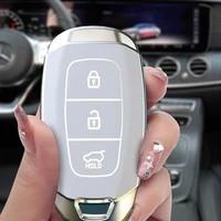 tpu smart car key shell holder key skin protector for hyundai i30 ix35 encino azera accent tm palisade santa fe case full cover