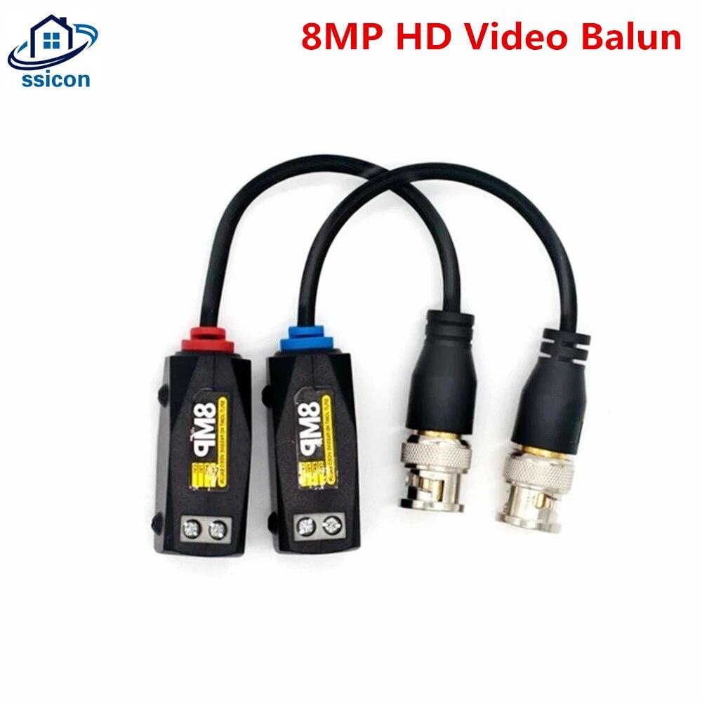 5 пар 4K 8MP HD CCTV Video Balun Пассивный винт Balun BNC видео трансивер витая пара для камеры безопасности