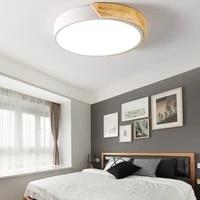 modern ultra thin led ceiling light wooden balcony lamp for living room lighting kitchen corridor bedroom