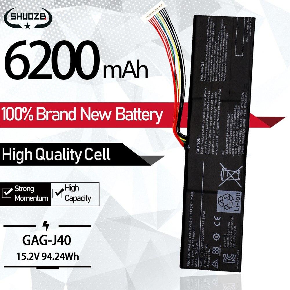 جديد GAG-J40 15.2V 94.24Wh 6200mAh بطارية كمبيوتر محمول لجيجابايت ايرو Aorus 14 V7 15 X7 X5 15w 15x 14-P64WV6 P64Wv7-De325Tb SHUOZB
