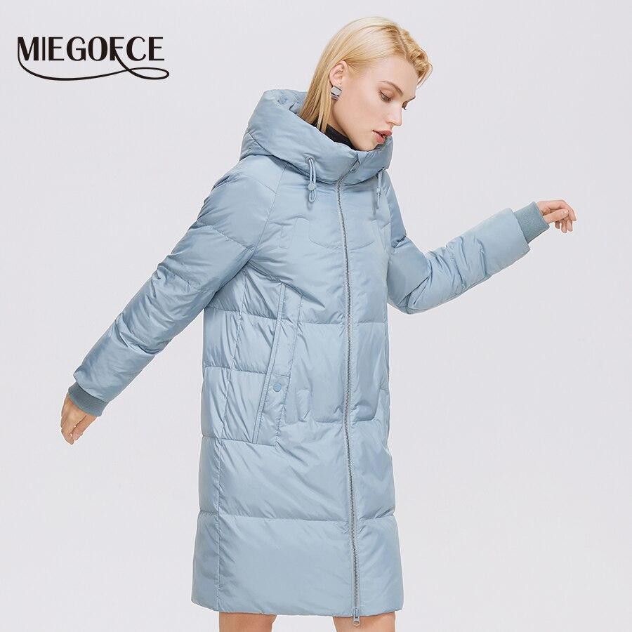MIEGOFCE 2021 Winter Women Coats Simple Fashion Long Jacket Women Professional Parka Femme Winter Co