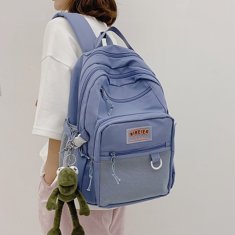 Новый Большой Вместительный водонепроницаемый нейлоновый синий рюкзак для отдыха путешествий многослойный рюкзак для подростков студент...