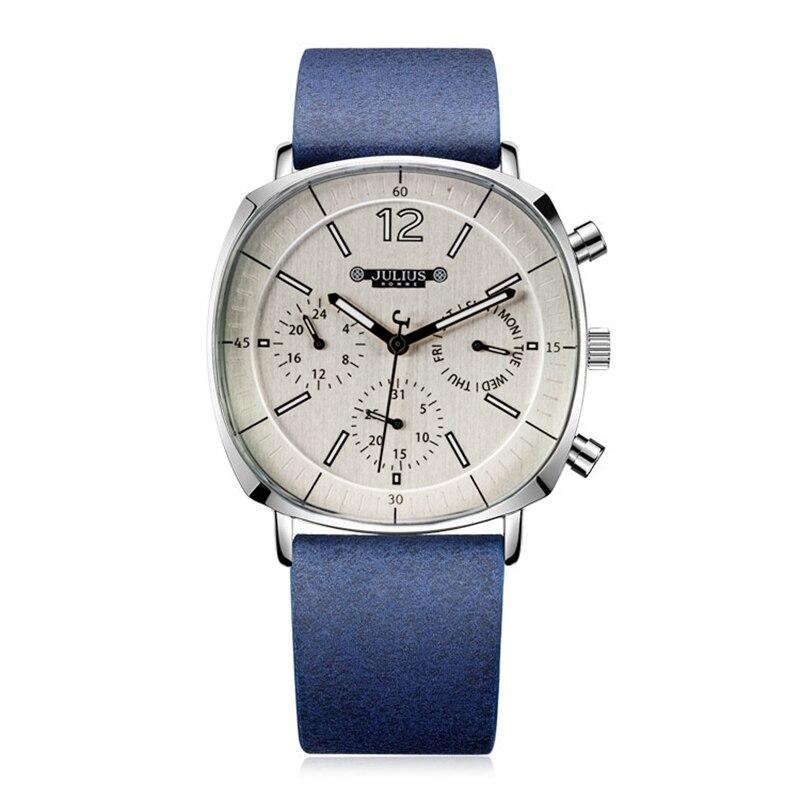 Reloj deportivo para hombre, reloj de cuarzo con correa de cuero para hombre, reloj de tres círculos para hombre, reloj de pulsera de moda para negocios, reloj de lujo nuevo