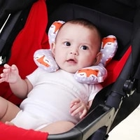 newborn baby protect security safety accessories u shaped soft pillow fix the body in the pushchair also anti roll when sleeping