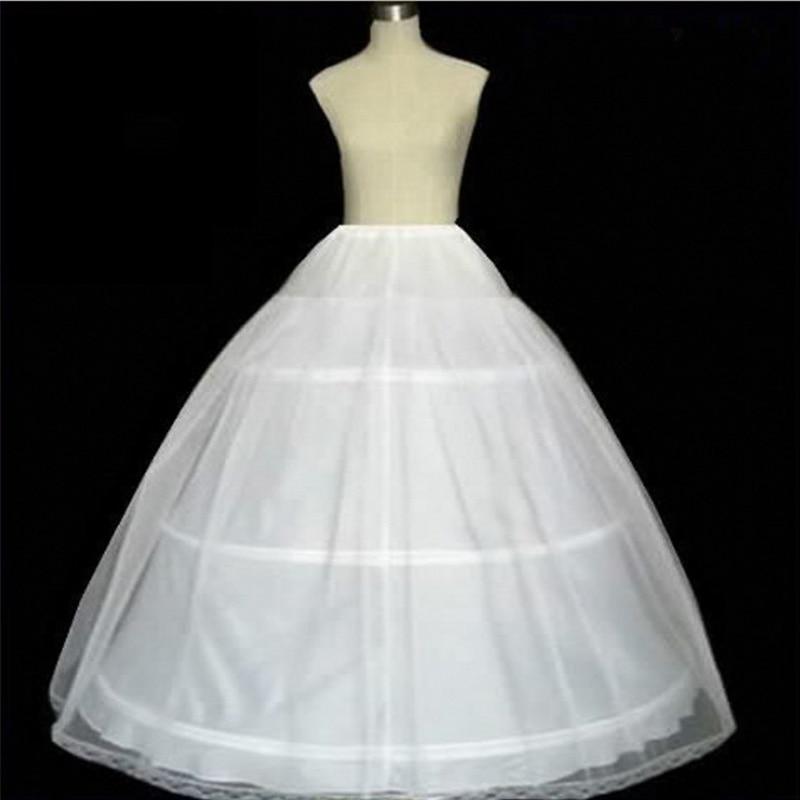 3 Hoops Ball Gown Bone Full Crinoline Petticoats For Wedding Dress Wedding Skirt Quinceanera Dress Petticoat