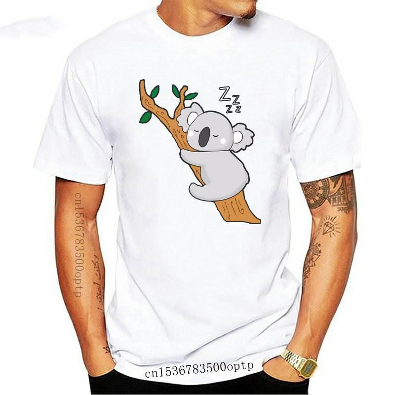 JCGO-Camiseta de algodón con estampado de Koala para mujer, ropa de manga corta con cuello redondo, informal, a la moda, talla grande 5XL