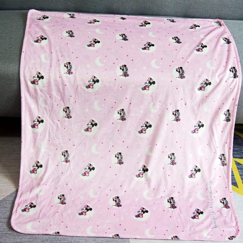 Disney Mickey Mouse Minnie Cartoon Small Size Raschel Towel Blanket Throw 70x100cm for Pets Cat Baby Kids on Crib/Sofa/Plane